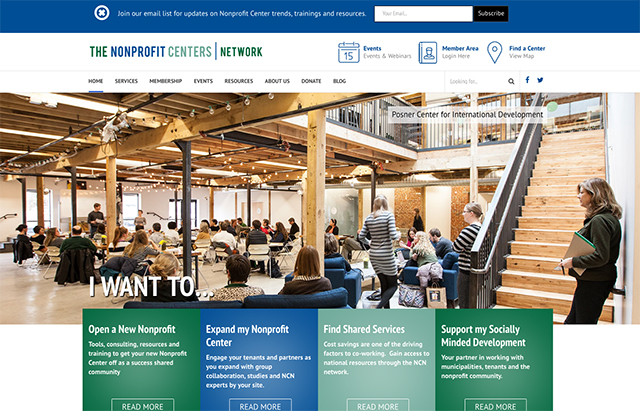 Nonprofit Centers Network – Site Redesign Thumbnail