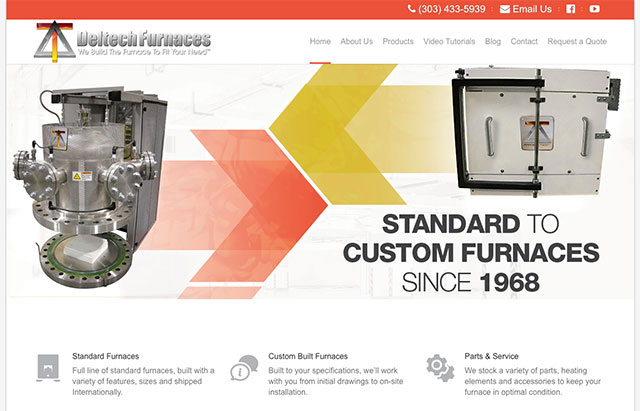 Deltech Furnaces – Website Redesign Thumbnail