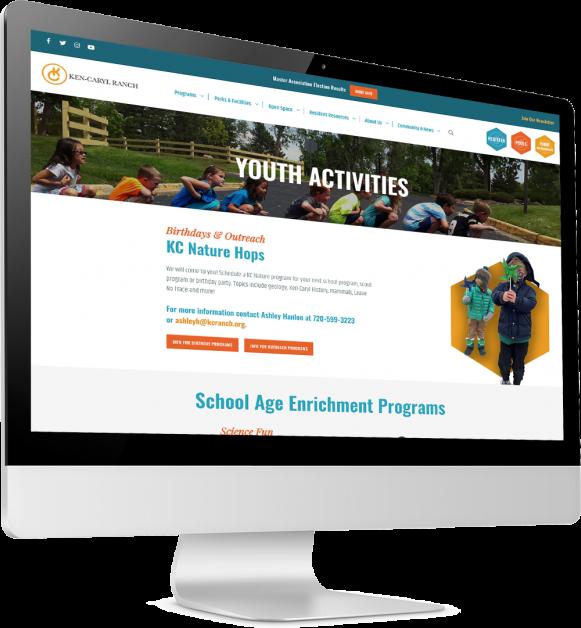 Community Association Website on desktop